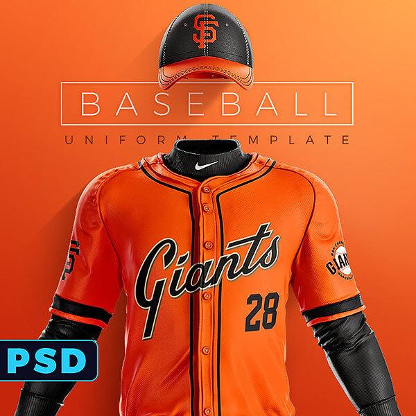 grand slam baseball uniform template sports templates. Black Bedroom Furniture Sets. Home Design Ideas