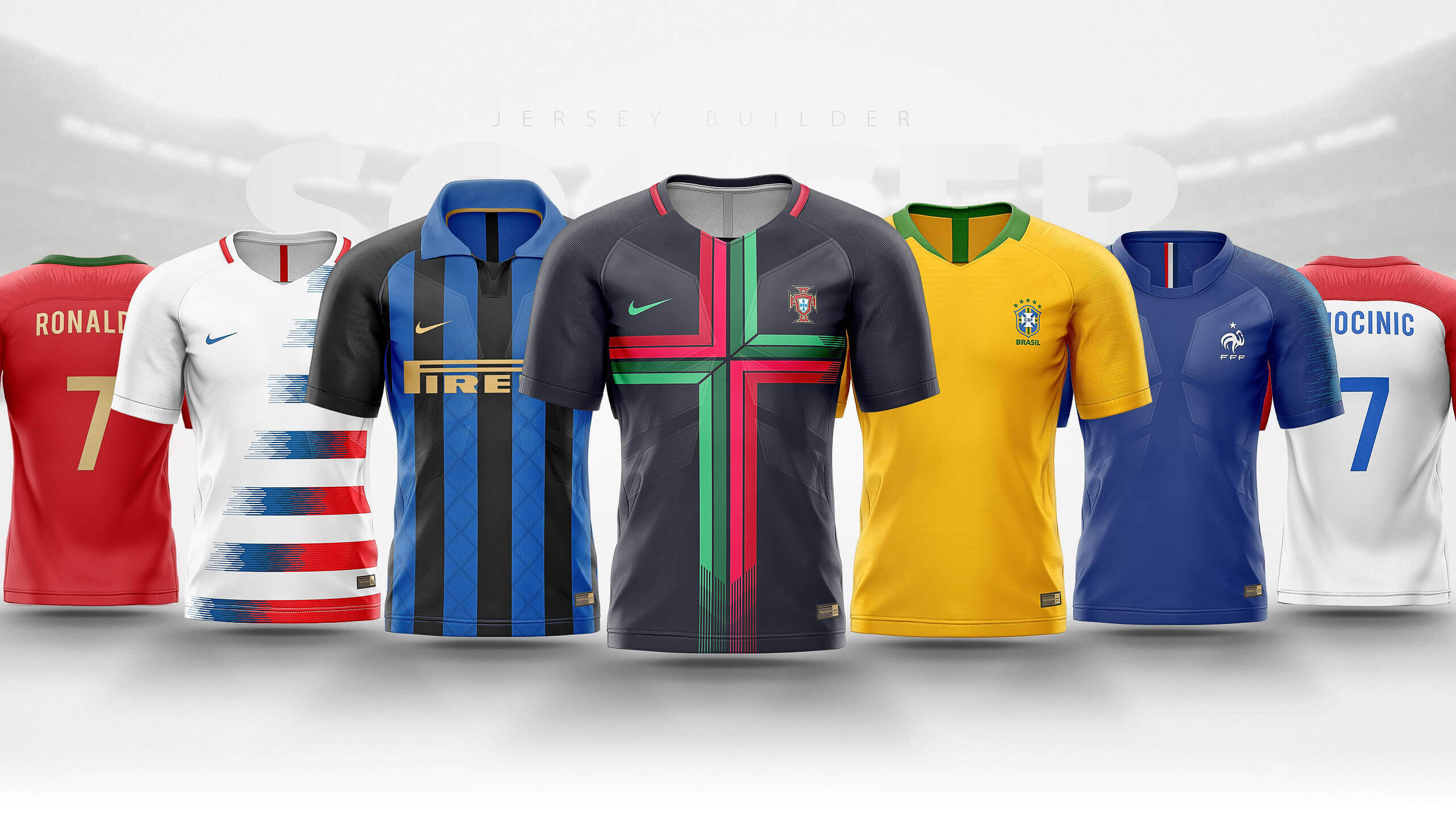 Football Soccer Jersey Builder Template V 1 Sports Templates