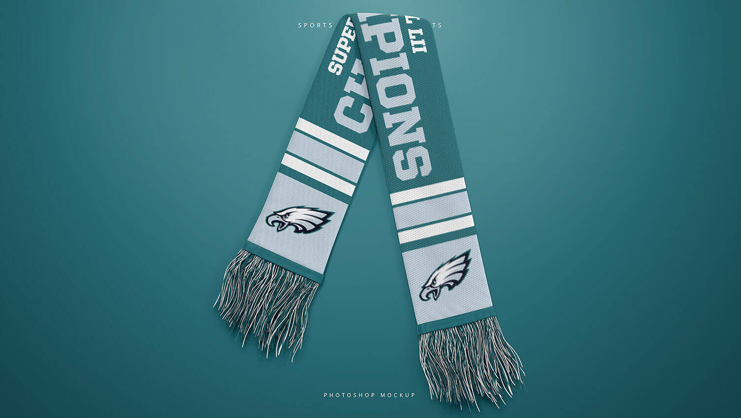 Football Sports Scarf Mockup Pack