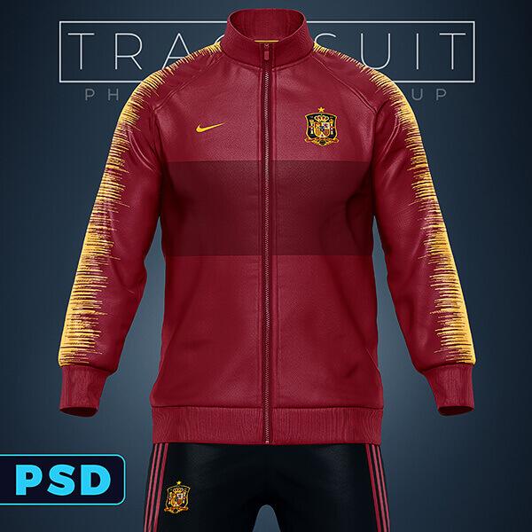 Sports Tracksuit Jacket Pants Mockup Sports Templates