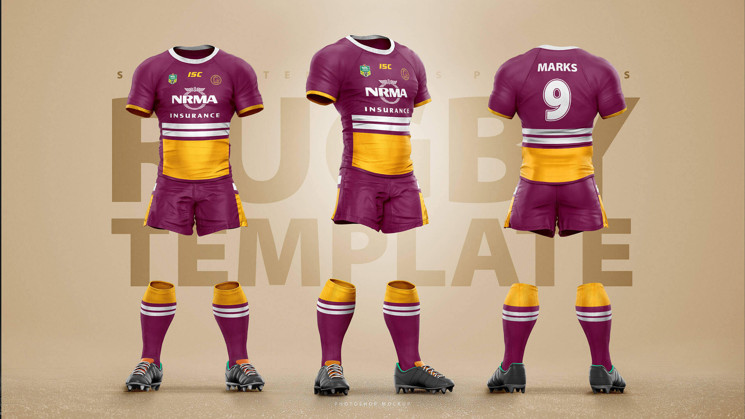 38fe049fb8f Rugby Uniform Template Mockup – Sports Templates